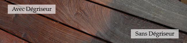 Dégriseur pour terrasse bois exotique