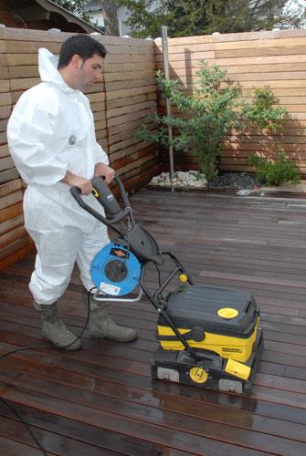 Solution nettoyage terrasse bois