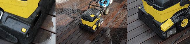 Nettoyage terrasse avec machine