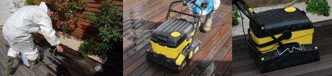 Mise en oeuvre nettoyage terrasse bois