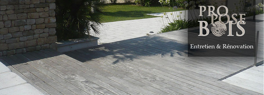 Dégrisage terrasse bois