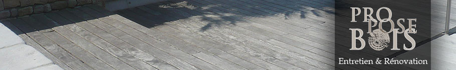 Dégrisage terrasse bois ipé, teck, cumaru
