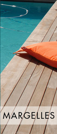 Margelle de piscine bois La Rochelle