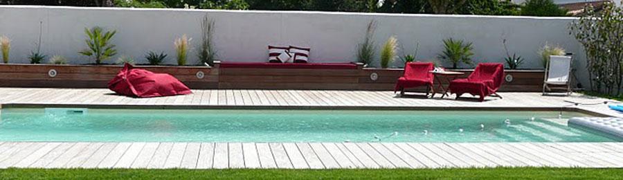 Plage de piscine bois La Rochelle